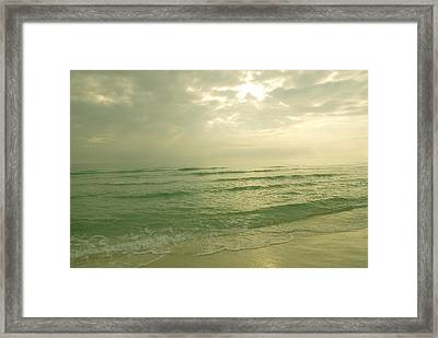 Framed Print featuring the photograph Florida Beach by Charles Beeler