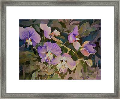 Florida Orchids Framed Print by Mindy Newman