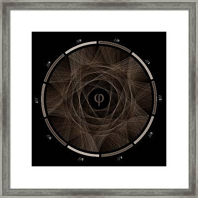 Flow Of Golden Ratio #2 Framed Print by Cristian Vasile