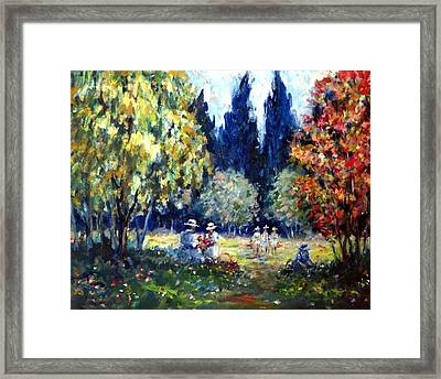 Flower Picking Framed Print