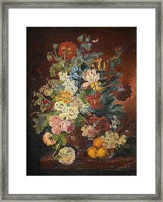 Framed Print featuring the painting Flowers Of Light by Mary Ellen Anderson