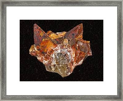 Fluorite And Calcite Framed Print