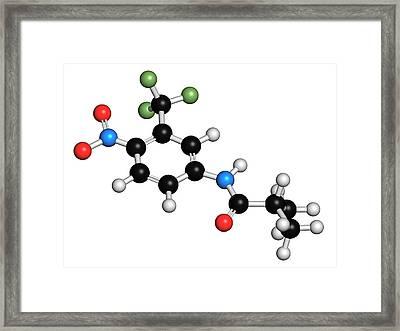 Flutamide Prostate Cancer Drug Molecule Framed Print by Molekuul
