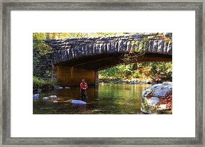 Fly Fishing In Autumn Framed Print
