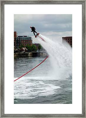 Flyboard Framed Print by Cordelia Molloy