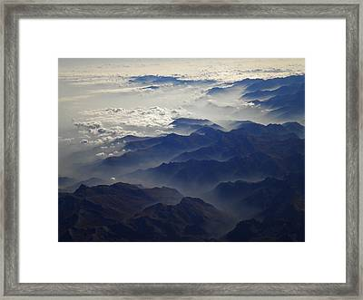 Flying Over The Alps In Europe Framed Print
