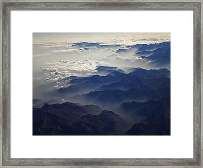 Flying Over The Alps In Europe Framed Print by Colette V Hera  Guggenheim