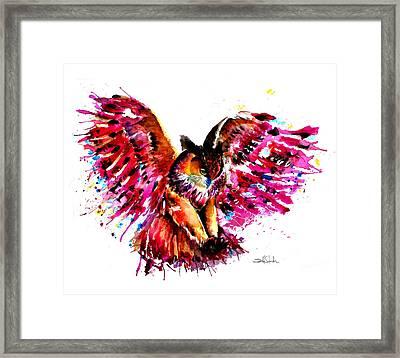 Flying Owl Framed Print by Isabel Salvador