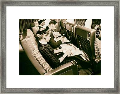 Flying Scandinavian Airlines In The 1960s Framed Print