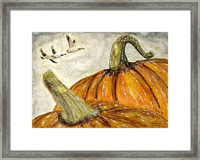 Flying South Framed Print by Angela Davies
