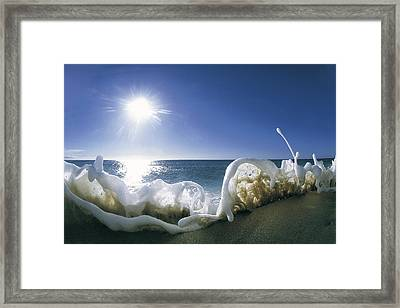 Foam Inertia Framed Print by Sean Davey