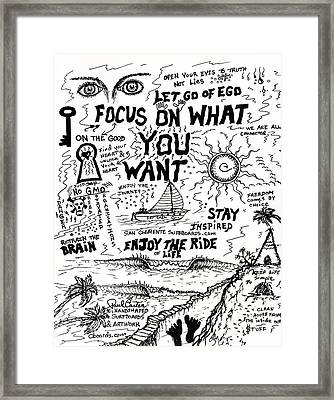 Focus On What You Want Framed Print