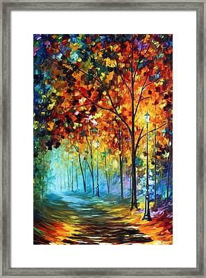 Fog Alley Framed Print by Leonid Afremov