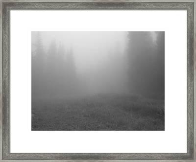 Fog In Tileston Meadow Framed Print