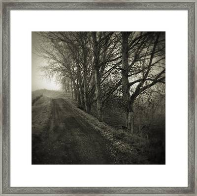 Foggy Trail Framed Print by Les Cunliffe