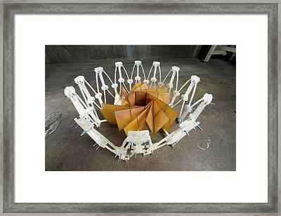 Foldable Solar Panel Array Framed Print