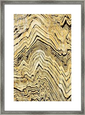 Folded Metamorphic Rock In Kings Canyon Framed Print by Ashley Cooper