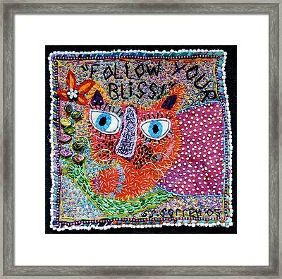 Follow Your Bliss Framed Print by Susan Sorrell