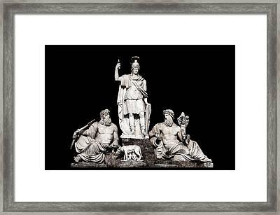 Fontana Della Dea Roma Tra Il Tevere E L'aniene Framed Print by Fabrizio Troiani