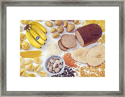 Food Containing Carbohydrates Framed Print by Martyn F. Chillmaid