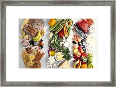 Food Groups Framed Print by Science Photo Library