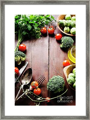 Food Ingredients Framed Print