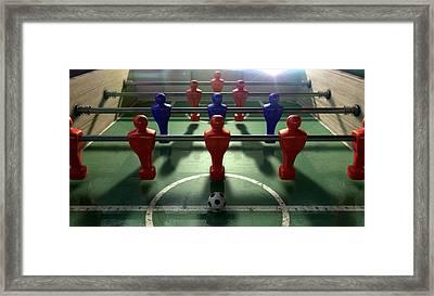 Foosball Table Framed Print by Allan Swart