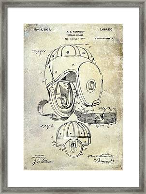 1927 Football Helmet Patent Framed Print by Jon Neidert