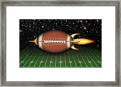 Football Spaceship Framed Print