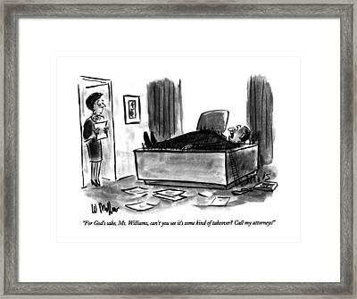 For God's Sake Framed Print by Warren Miller