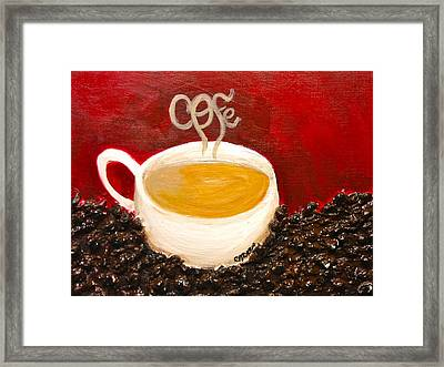 For The Coffee Lover Framed Print by Melissa Torres