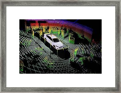 Ford Autonomous Drive Vehicle Framed Print