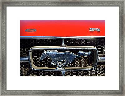 Ford Mustang Badge Framed Print by George Atsametakis