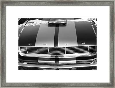 Ford Mustang Grille Framed Print by Jill Reger
