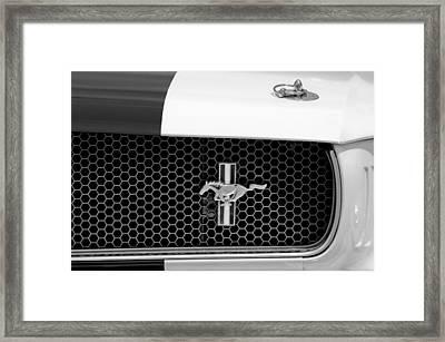 Ford Mustang Gt 350 Grille Emblem Framed Print by Jill Reger