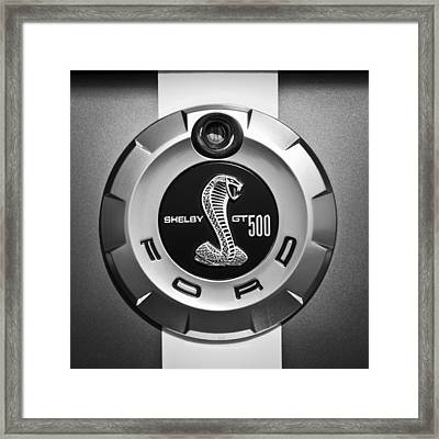 Ford Shelby Gt 500 Cobra Emblem Framed Print
