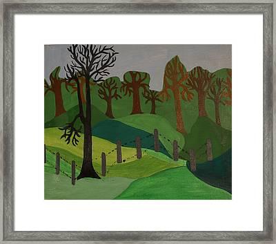 Forest Moderna Framed Print