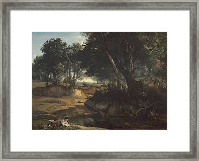 Forest Of Fontainebleau Framed Print by Jean-Baptiste-Camille Corot
