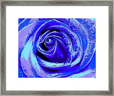 Forever In Blue Framed Print