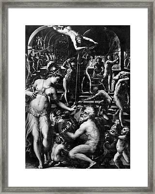 Forge Of Vulcan Framed Print by Granger