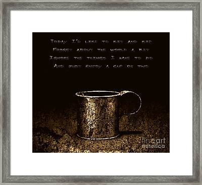Forget About The World Framed Print