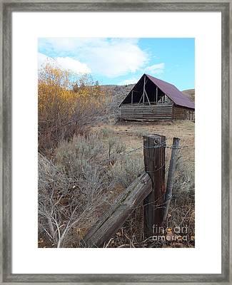 Forgotten Barn Framed Print by Kimberly Maiden
