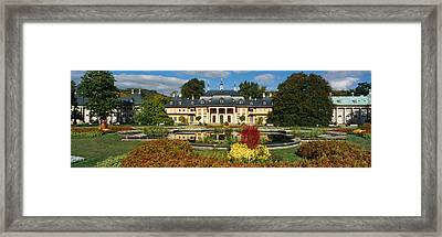 Formal Garden In Front Of A Castle Framed Print by Panoramic Images