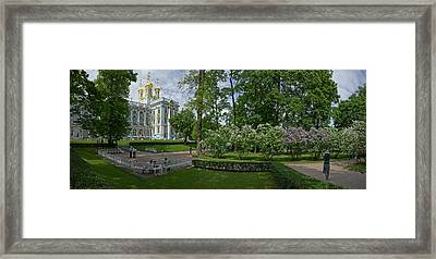 Formal Garden In Front Of The Palace Framed Print by Panoramic Images