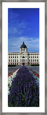 Formal Garden Outside A Government Framed Print by Panoramic Images