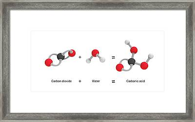 Formation Of Carbonic Acid Framed Print by Mikkel Juul Jensen