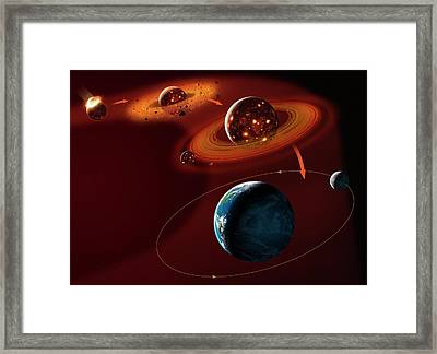 Formation Of The Moon Framed Print