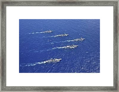 Formation Of Warships From The U.s Framed Print by Stocktrek Images