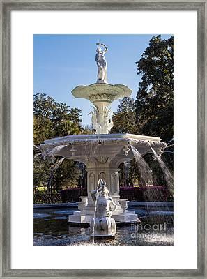 Forsyth Park Fountain Savannah Georgia Framed Print by Dawna  Moore Photography