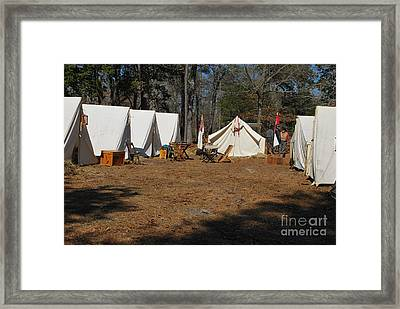 Confederate Encampment At Fort Anderson 1 Framed Print
